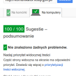 Google Page Speed test desktop - 100/10