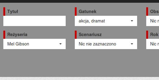 Zaawansowana wyszukiwarka filmów