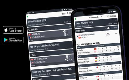 Aplikacja mobilna Squash Live Score